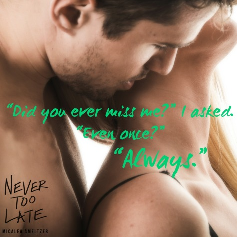 never too late Teaser 2